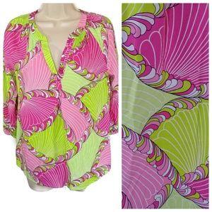 Crown & Ivy Tunic Top Shirt Women Size M V-Neck